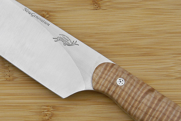 HCK Chef's Knife with Fiddleback Maple - 8 in.