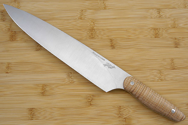 HCK Chef's Knife with Fiddleback Maple - 10 in.