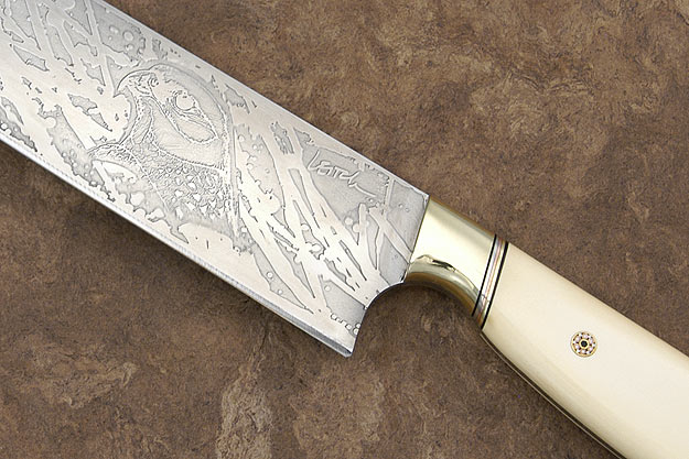 Handmade White Micata Chef's Knife (10 1/2 in)