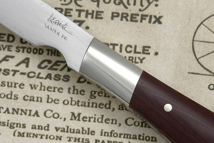 Burgundy Micarta Paring Knife