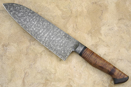 Santoku with Curly Koa and Blackwood (7 in)