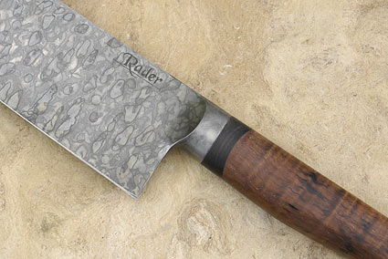Santoku with Curly Koa and Blackwood (7.9 in)