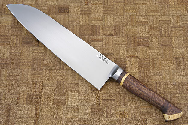 Santoku (8 1/2 in.) with Curly Koa and Box Elder
