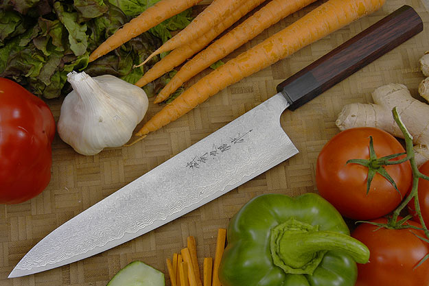 Asai Damascus Chef's Knife - Gyuto - 9 1/2 in. (240mm)
