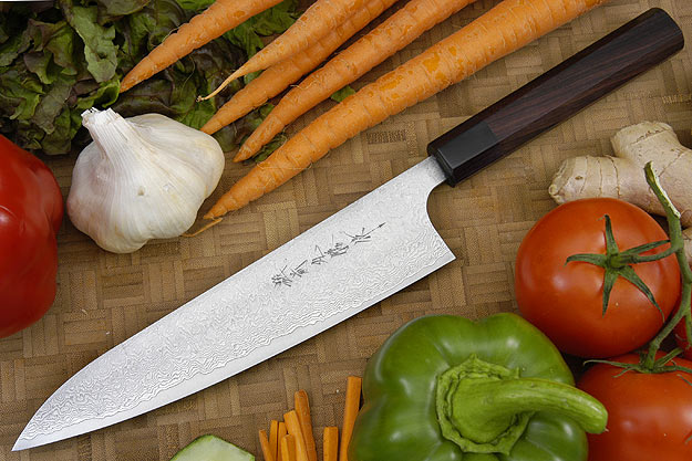Asai Damascus Chef's Knife - Gyuto - 8 1/2 in. (210mm)