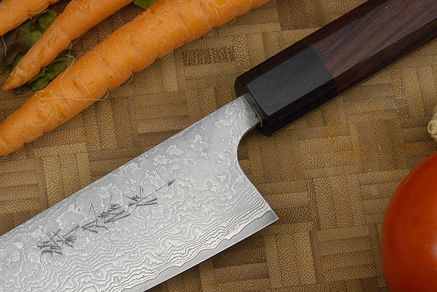 Asai Damascus Chef's Knife - Gyuto - 7 1/8 in. (180mm)