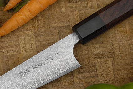 Asai Damascus Petty Knife - 5 1/2 in. (135mm)