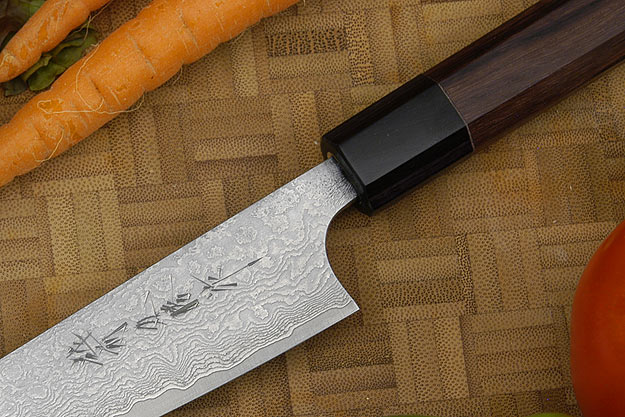 Asai Damascus Petit Gyuto/Utility Knife - 6 1/3 in. (160mm)