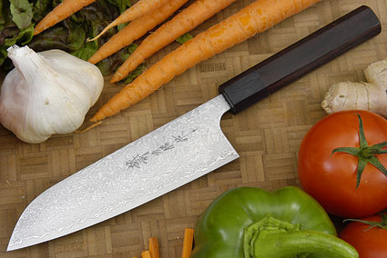 Asai Damascus Chef's Knife - Santoku - 6 3/4 in. (170mm)
