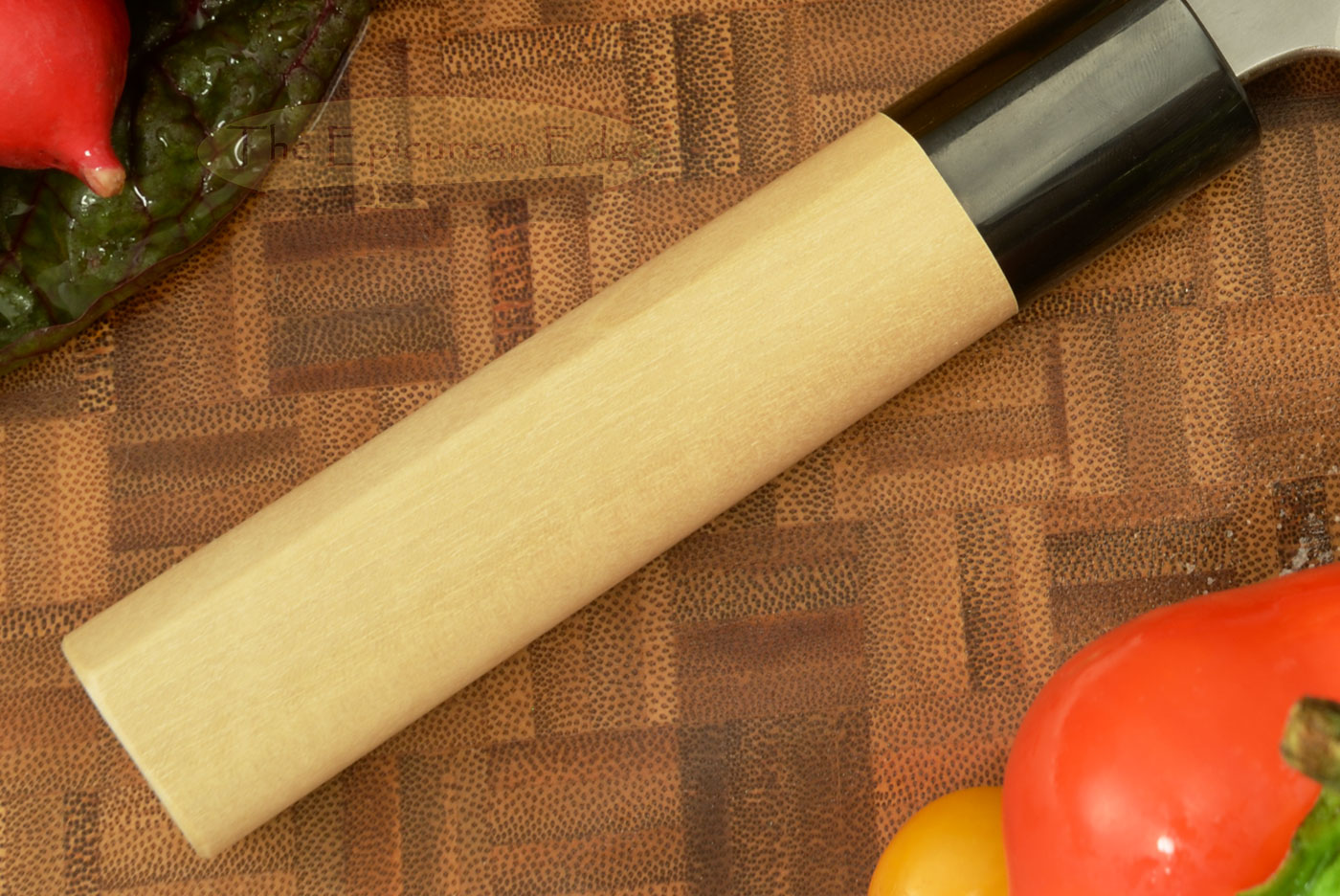 Hammer Finished Vegetable Knife - Nakiri, Traditional - 6 1/2 in. (165mm)