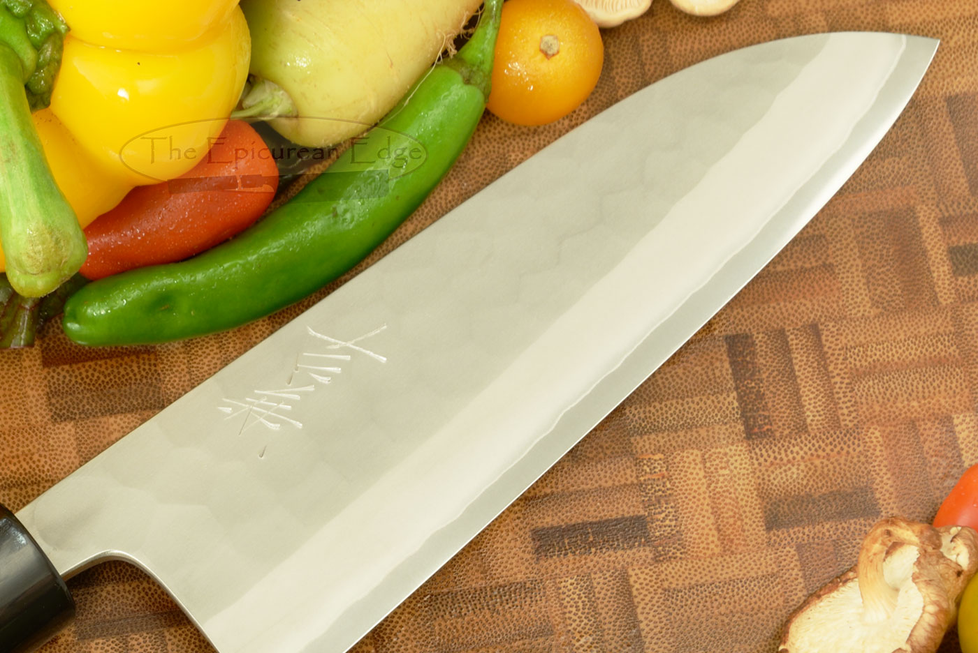 Hammer Finished Chef's Knife - Santoku, Traditional - 6 1/2 in. (165mm)