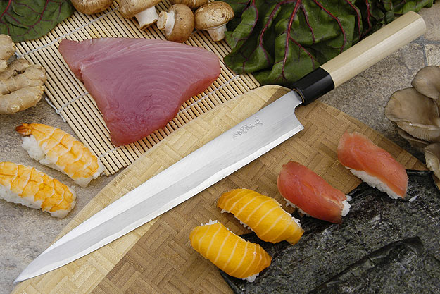 Tadafusa Shirogami Professional Left-Handed Sashimi Hocho - 10 2/3 in. (270mm)