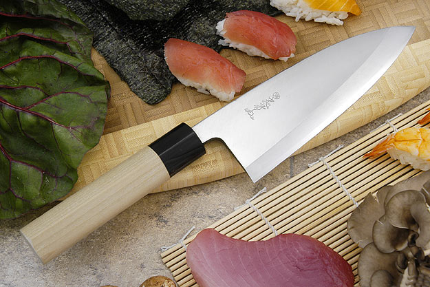 Tadafusa Shirogami Professional Right-Handed Deba - 7 1/8 in. (180mm)
