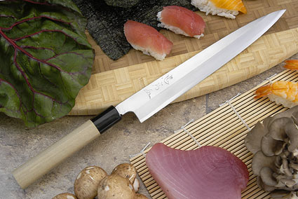Tadafusa Aogami Professional Right-Handed Sashimi Hocho - 9 1/2 in. (240mm)