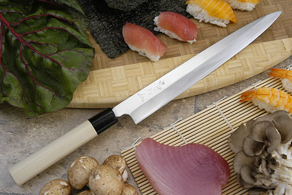 Tadafusa Aogami Professional Right-Handed Sashimi Hocho - 10 2/3 in. (270mm)