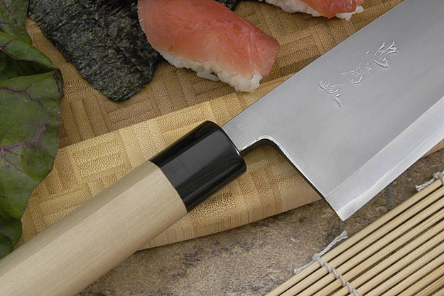 Tadafusa Aogami Professional Right-Handed Deba - 8 1/4 in. (210mm)