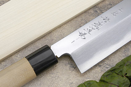 Hontan Seikon Dojo Professional Right-Handed Usuba Hocho - 240mm -- with Saya