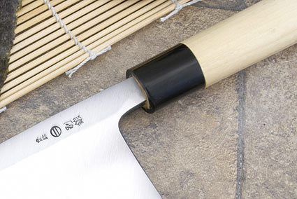 Hontan Seikon Dojo Professional Right-Handed Deba Hocho - 210mm -- with Saya