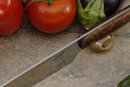 HCK Chef's Knife with Redwood Burl - 10 in.