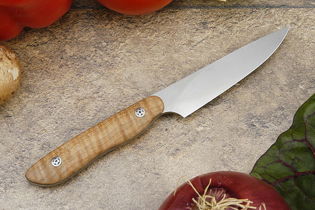 HCK Paring Knife with Fiddleback Maple - 3 1/2 in.