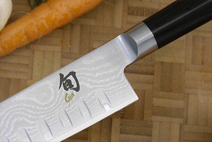Shun Classic Santoku Knife - 6 1/2 in., Scalloped - Left Handed (DM0718L)