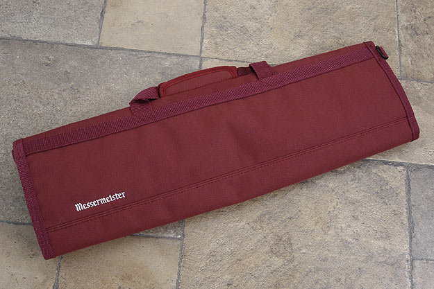 8 Pocket Knife Roll, Burgundy (2066-8/BU)