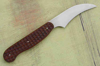 Jigged Micarta Bird's Beak Paring Knife