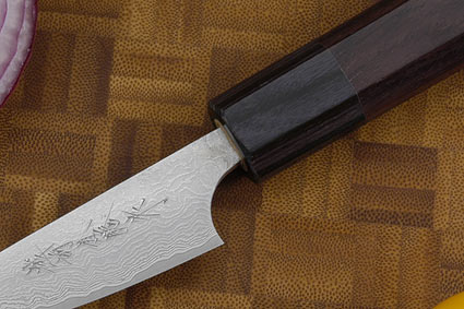 Asai Damascus Paring Knife (Petty) - 3 in. (75mm)