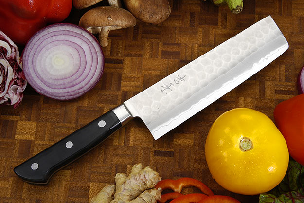 Hammer Finished Chef's Knife - Nakiri, Western - 6 1/2 in. (165mm)