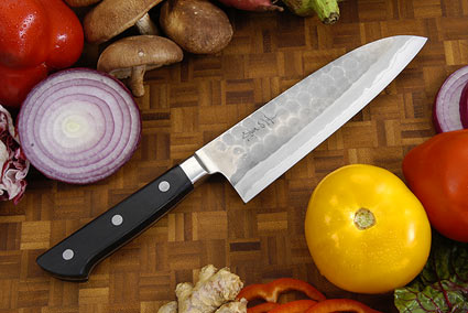 Hammer Finished Chef's Knife - Santoku, Western - 6 1/2 in. (165mm)