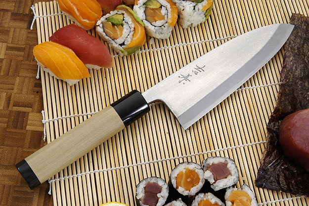Suminagashi Right-Handed Deba Hocho - 165mm (6 1/2 in.)