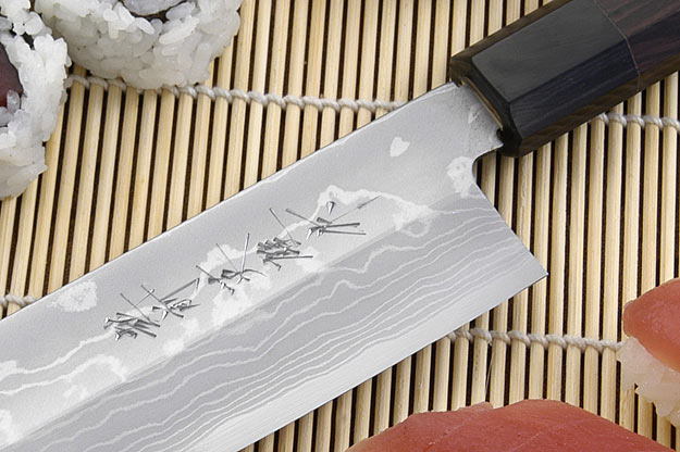Suminagashi Usuba (Vegetable Cleaver), 180mm (7 1/8 in), Left Handed
