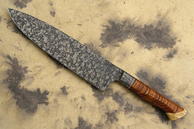 Chef's Knife with Bubinga and Box Elder Burl (8 1/2 in.)