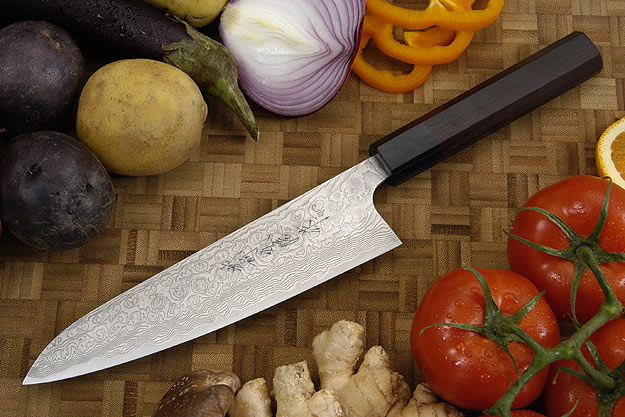Asai PM Damascus Chef's Knife - Gyuto - 7 1/8 in. (180mm)