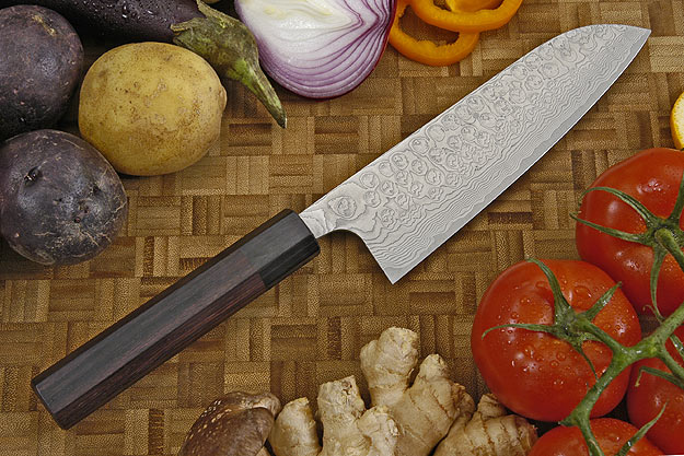 Asai PM Damascus Chef's Knife - Santoku - 6 3/4 in. (170mm)