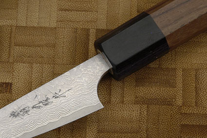 Asai PM Damascus Paring Knife (Petty) - 3 in. (75mm)