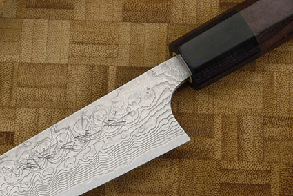 Asai PM Damascus Petty Knife - 5 1/2 in. (135mm)