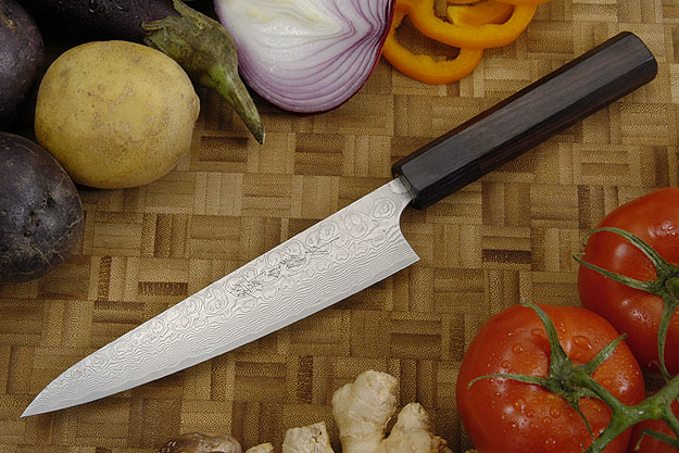 Asai PM Damascus Petit Gyuto/Utility Knife - 6 1/3 in. (160mm)