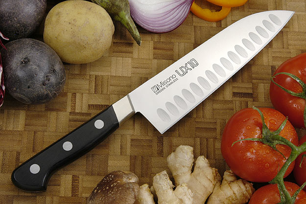 UX10 Chef's Knife - Santoku, Granton Edge - 7 1/8 in. (180mm) - No. 751