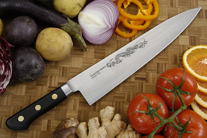 Misono Carbon Steel Chef's Knife - Gyuto - 10 2/3 in. (270mm)  - No. 114