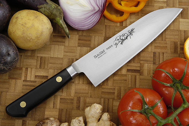 Misono Carbon Steel Chef's Knife - Santoku - 7 1/8 in. (180mm) - No. 181