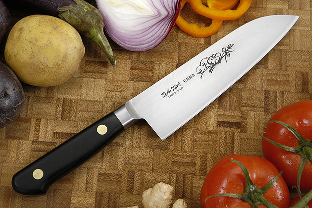 Misono Carbon Steel Chef's Knife - Santoku - 6 1/4 in. (160mm) - No. 183