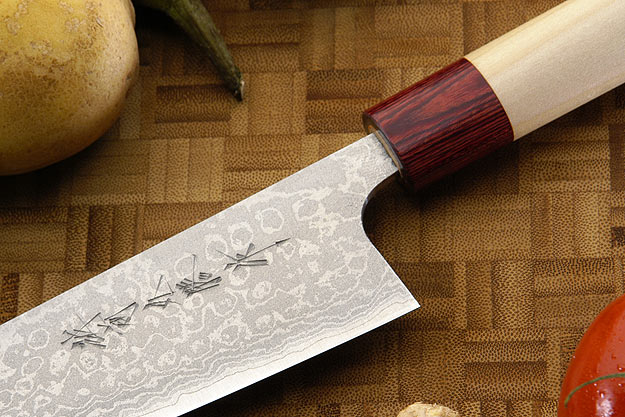 Asai Enji Damascus Chef's Knife - Santoku - 6 3/4 in. (170mm)