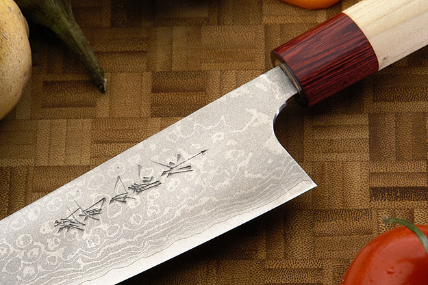 Asai Enji Damascus Chef's Knife - Gyuto - 7 1/8 in. (180mm)