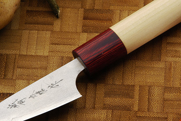 Asai Enji Damascus Paring Knife - Petty - 3 in. (75mm)