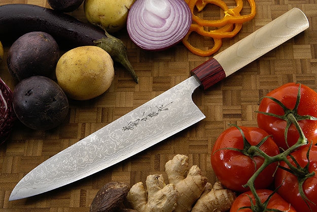 Asai Enji Damascus Chef's Knife - Gyuto - 8 1/2 in. (210mm)