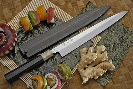 Honyaki Yanagiba, 270mm (10 2/3 in) with Saya