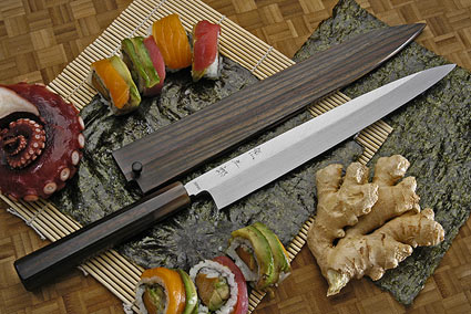 Honyaki Yanagiba, 240mm (9 1/2 in) with Saya