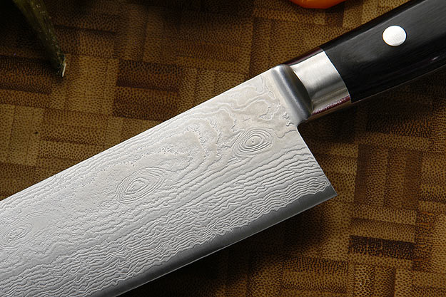 Epicurean Damascus Chef's Knife - Santoku - 6 3/4 in. (170mm) -- Prototype
