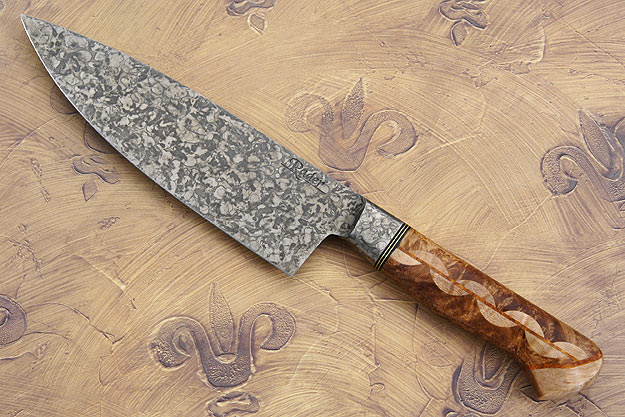 Chef's Knife with Maple and Amboyna Burl (6 1/2 in.)